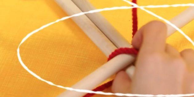 Оберните рейки верёвкой
