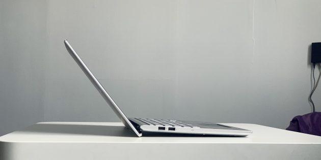 Asus VivoBook S15 S532FL: угол открытия крышки