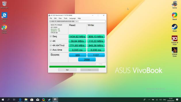 Asus Vivobook S15: Производительность