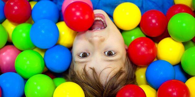 Организуйте игровую зону с шариками