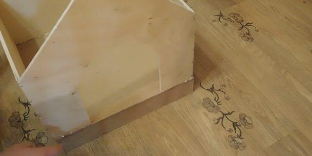 Домик для кошки своими руками: приклейте стены к основанию
