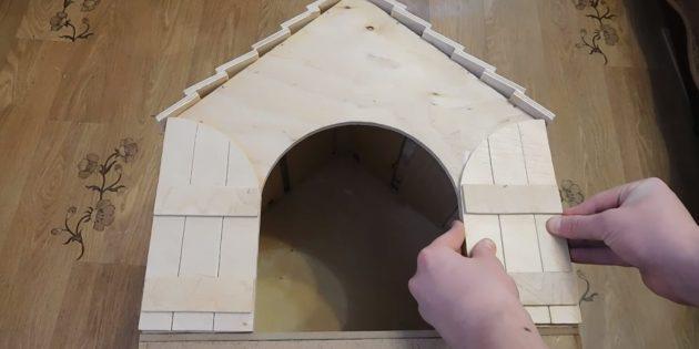 Домик для кошки своими руками: приклейте дверцы