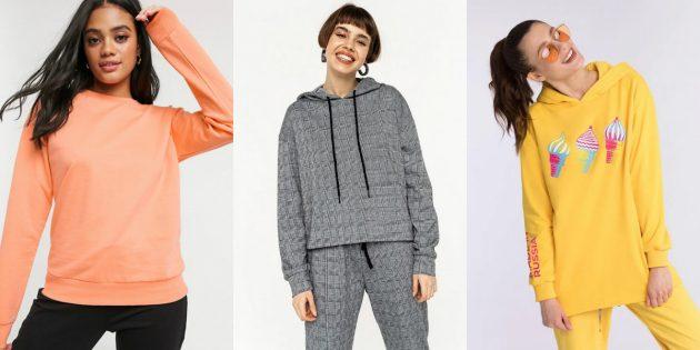 Домашняя одежда: лонгсливы, худи и свитшоты
