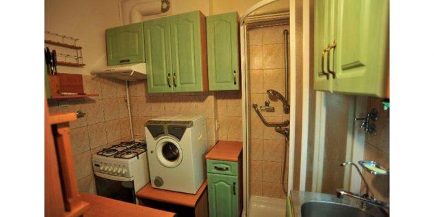 душевая кабина на кухне