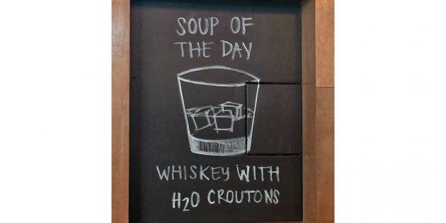 бары и рестораны: суп дня с виски