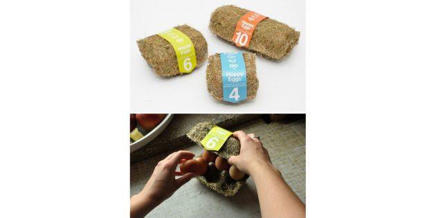 упаковка из спрессованного сена