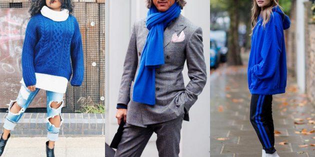 Модные цвета осень 2019: галактический синий
