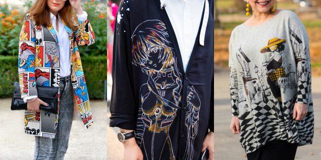 Модный свитер или кардиган с графическими принтами — 2019