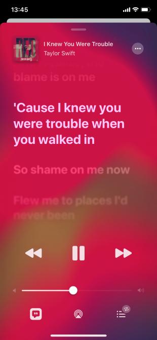Неочевидные функции iOS 13: караоке в Apple Music