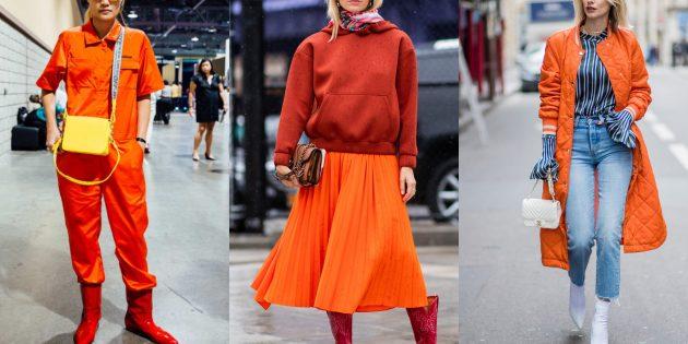 Модные цвета осень 2019: оранжевый тигр