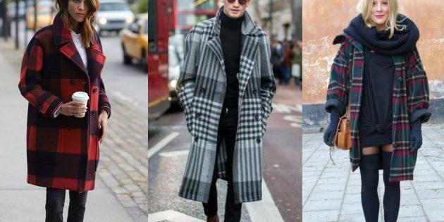 Модное пальто-плед осени 2019 года