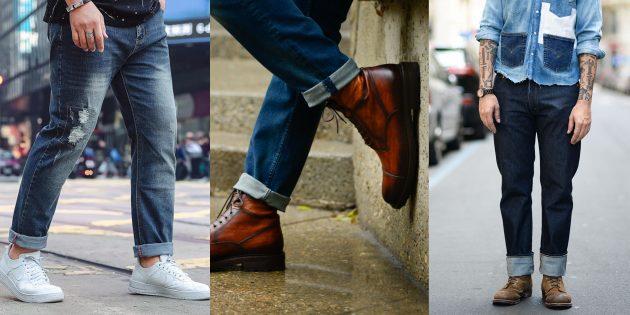 Мужские джинсы 2019года с подворотами