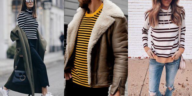 Модный свитер — 2019 в горизонтальную полоску