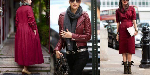 Модные цвета осень-зима 2019–2020: байкерский красный