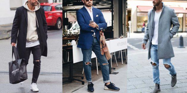 Драные джинсы для мужчин — 2019