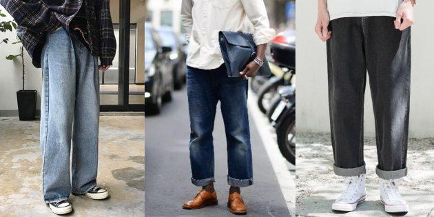 Широкие прямые джинсы для мужчин — 2019/2020