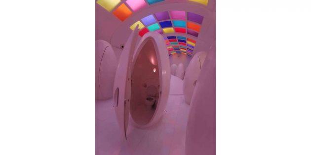 дизайн туалета: космическая капсула