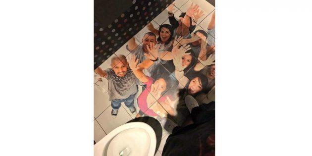фото на плитке в туалете