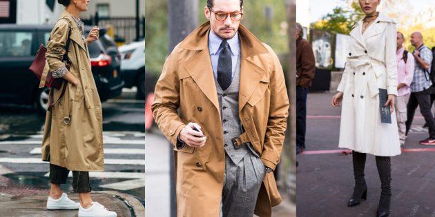 Модные пальто осень 2019: Тренчкоты