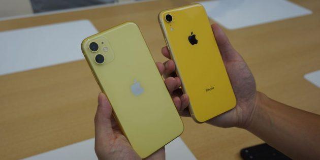 сравнение iPhone 11 и iPhone 11 XR