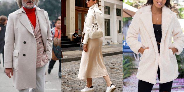 Модные цвета осень 2019: ванильный крем