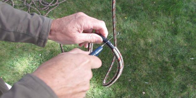 Качели своими руками: отрежьте кусок верёвки