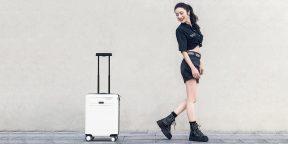Xiaomi анонсировала умный чемодан Robotic Suitcase. Он следует за владельцем и предупреждает о краже