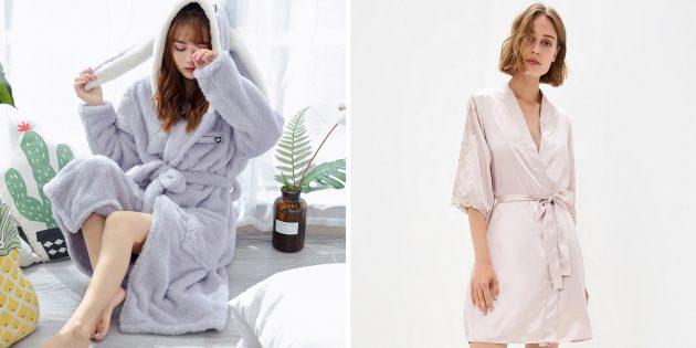 Что подарить маме на день рождения: красивый халат или пижамный комплект
