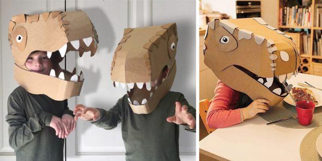 костюм динозавра из картона