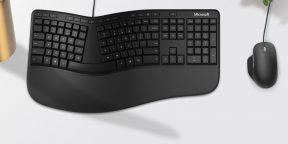 Microsoft представила обновлённую эргономичную клавиатуру. На ней есть кнопка для эмодзи