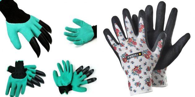 Что подарить маме на день рождения: набор перчаток для работы в земле