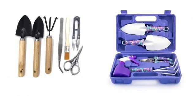 Компактный набор инструментов по уходу за мини-садом
