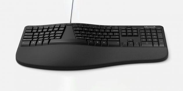 Эргономичная клавиатура Microsoft