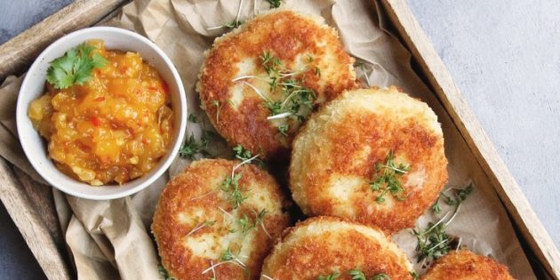 Картофельные зразы с сыром и ветчиной