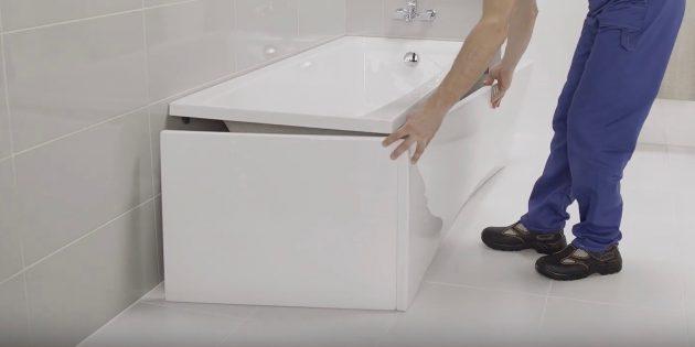 Установка ванны своими руками: Смонтируйте экран