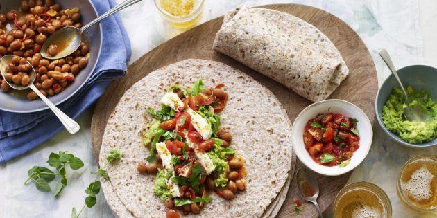 Рецепт буррито с фетой, авокадо и лаймом