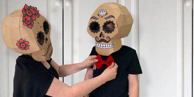 костюм пляска смерти из картона