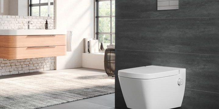 Современные туалеты: смывной бачок часто монтируется в саму стену