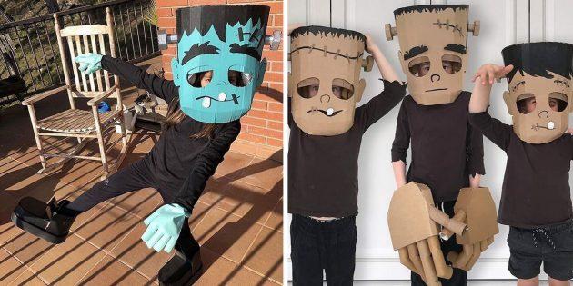 Готовимся к Хеллоуину в последний момент: 14 идей детских костюмов из картона