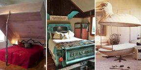Дизайнер психанул: 20 фото необычных кроватей и спален