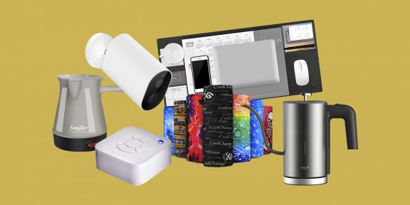 Находки AliExpress: плед, генератор шума, бутылка для соуса
