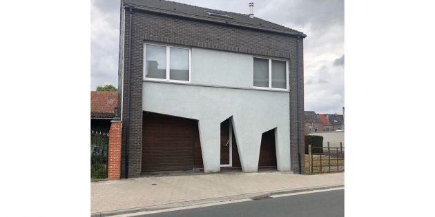 странные дома в Бельгии