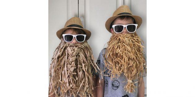 борода из картона