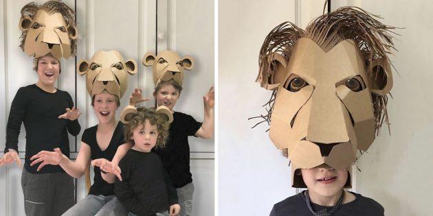 картонный костюм льва