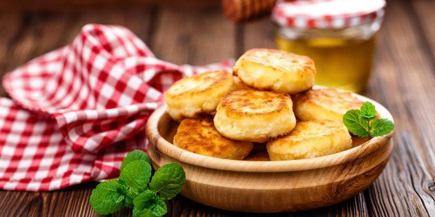 Рецепт сырников без муки с манкой и крахмалом
