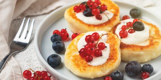 Рецепт сырников без яиц и муки