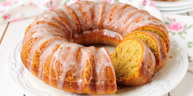 Рецепт тыквенного пирога с орехами и апельсиновой глазурью