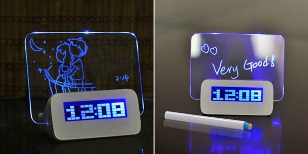 Умные будильники: с LED-панелью