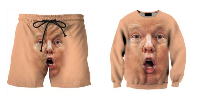 Одежда с президентским принтом
