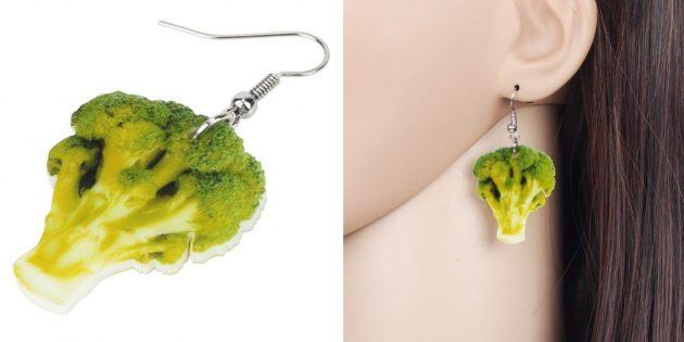 Серьги-брокколи